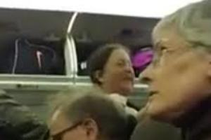 [VIDEO]  Rotten Liberal Harassed a Trump Supporter on an Airplane and Gets What She Deserves
