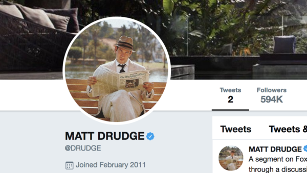 Drudge Rips Fox News Host Over On-Air Behavior
