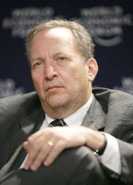 5.) Larry Summers, Former Treasury Secretary and Harvard University President