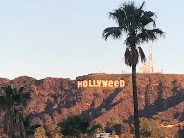 Hollywood Sign Vandalized to Read 'Hollyweed'