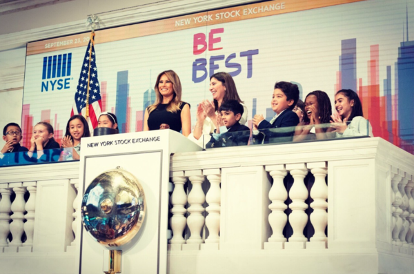 What Melania Wore Ringing Opening Bell at NYSE
