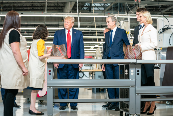 TRUMP VISITS NEW LOUIS VUITTON FACTORY IN TEXAS